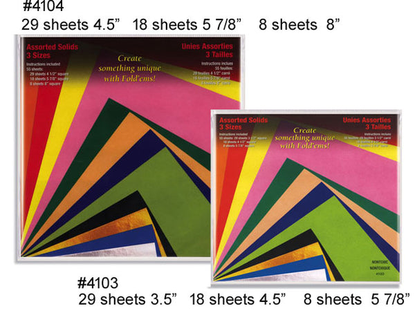 Solid Colors Origami Paper - 55 Sheets Assorted Pack