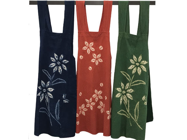 Tie Dyed Long Apron Dress