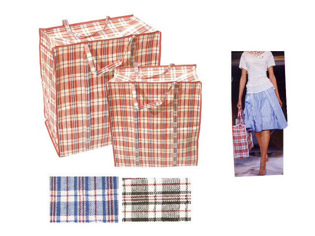 Classic Plaid Design Nylon Shopping / Storage Bag