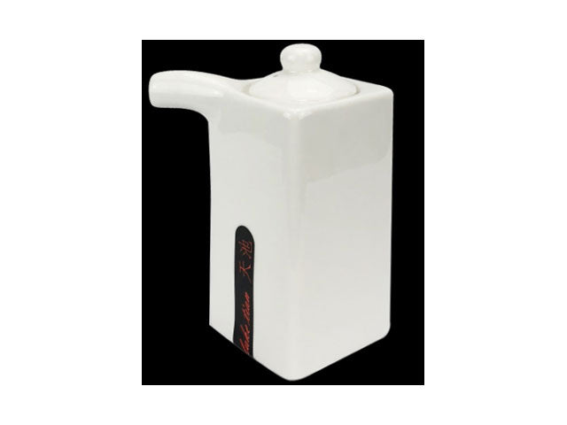 White Ceramic Sauce Jar