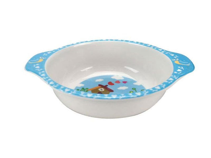 Childrens Melamine Rice Bowl w/ Handles - Oval