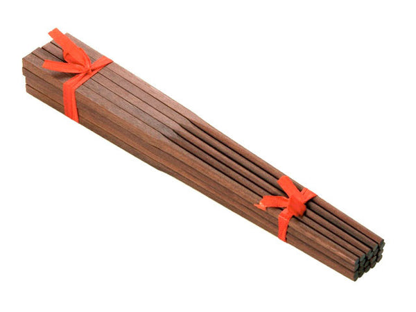 "10"" Red Wood Chopsticks - 10 Pairs"