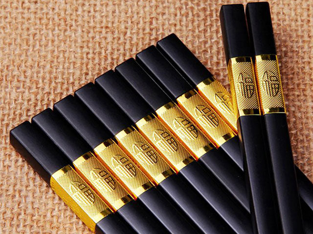 Fortune Design Black Chopsticks (Temp. Out of Stock)
