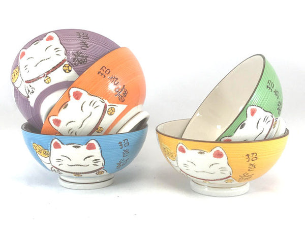 Lucky Cat Design Children Ceramic Bowl