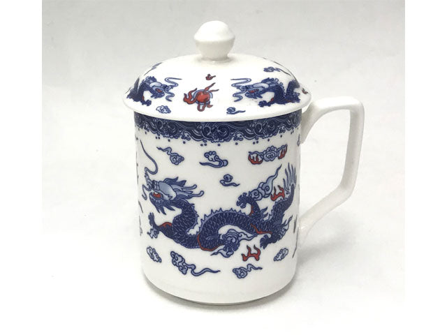 Double Dragon Design Ceramic Mug