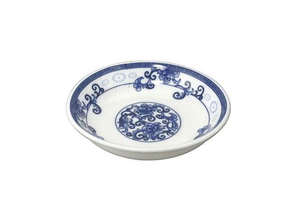 Blue on White Peony Design Sauce Dish (Minimum order - 12pcs) ( Out of Stock )