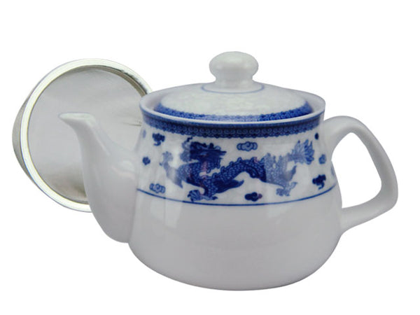 Dragon Phoenix Design Ceramic Teapot w. Infuser ( Temp out of Stock )