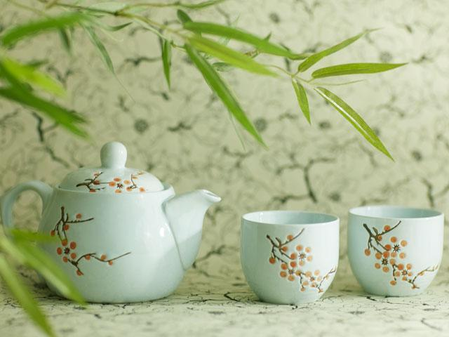 Celadon blue tea set