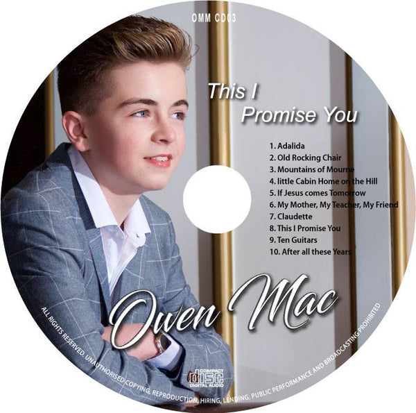 'This I Promise You' Cd by Owen Mac