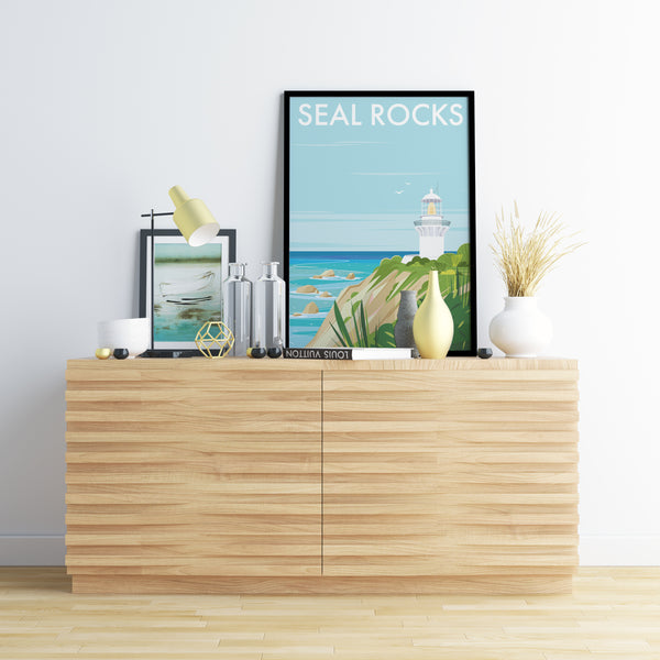 Seal Rocks Travel Print