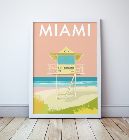 Miami Beach Lifeguard Tower Print