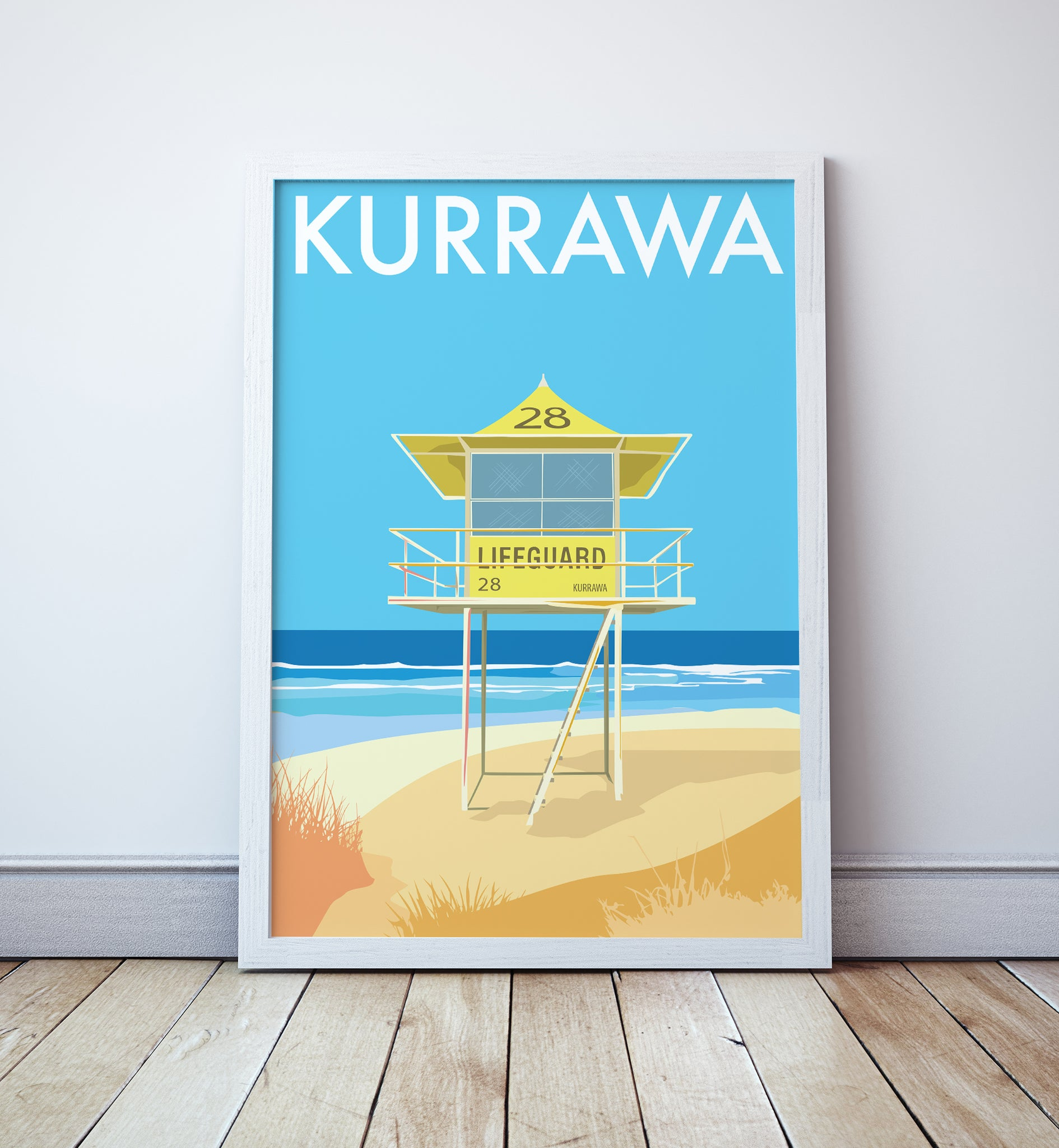 Kurrawa Beach Lifeguard Tower Print