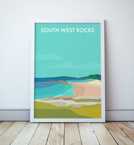 South West Rocks Beach Travel Print