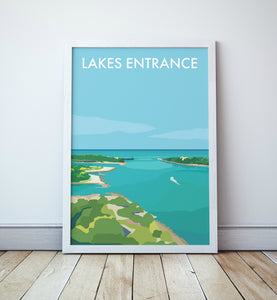 Lakes Entrance Travel Print