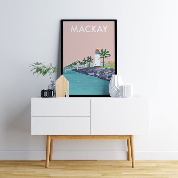 Mackay Lighthouse Travel Print