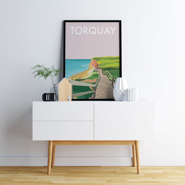 Torquay Beach Travel Print