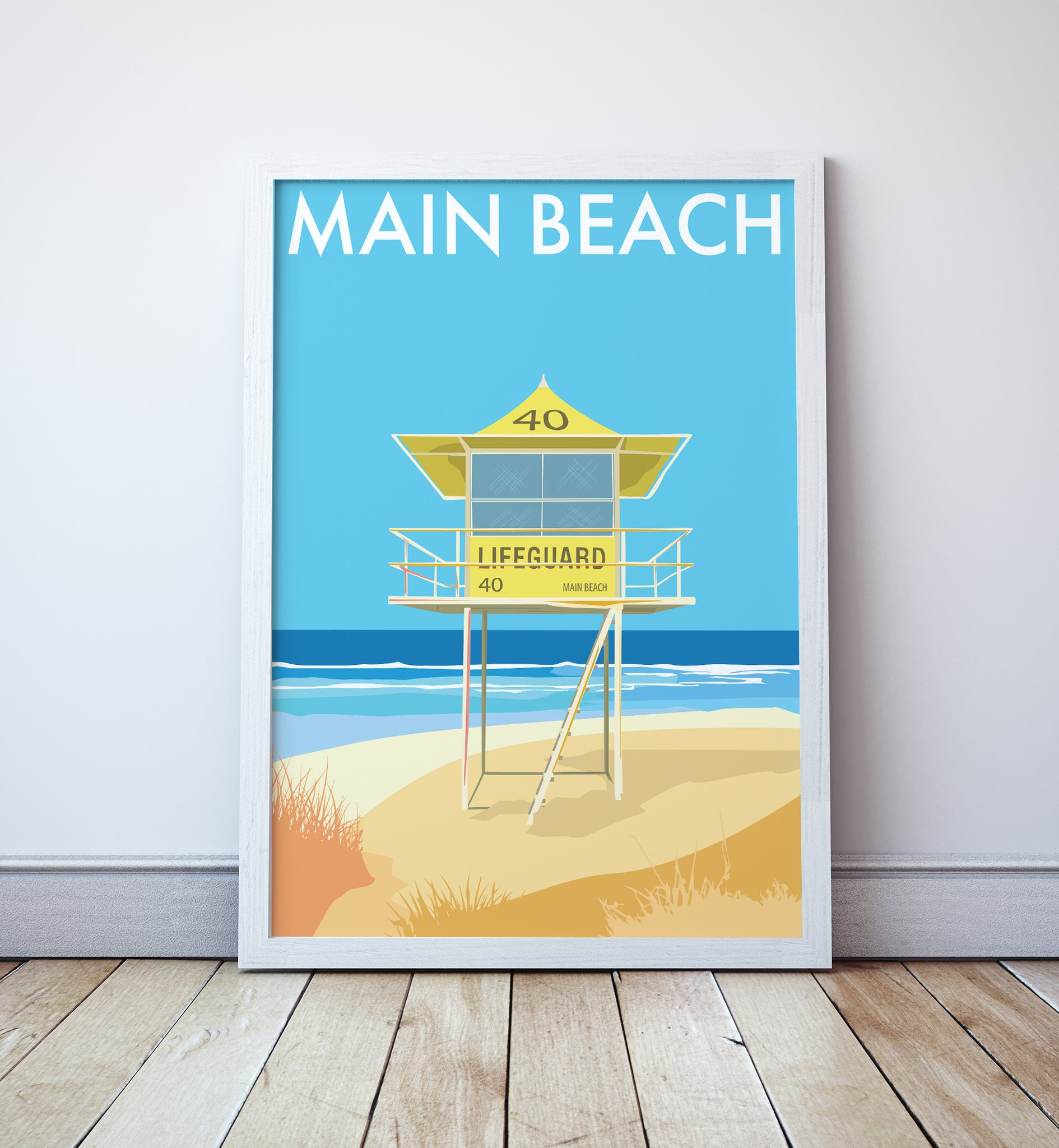 Main Beach Lifeguard Tower Print