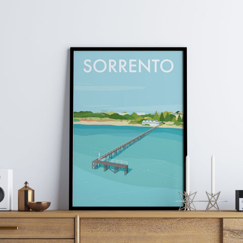 Sorrento Pier Travel Print