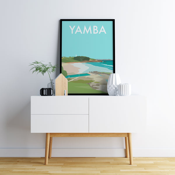 Yamba Beach Travel Print