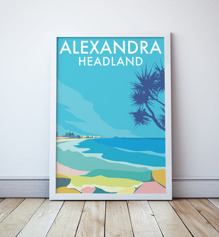 Alexandra Headland Sunshine Coast Beach Travel Print