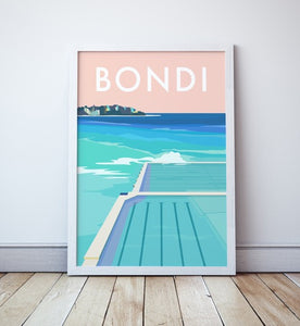 Bondi Icebergs Beach Travel Print