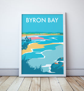 Byron Bay Beach Travel Print