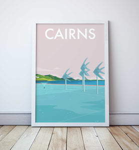 Cairns Beach Travel Print