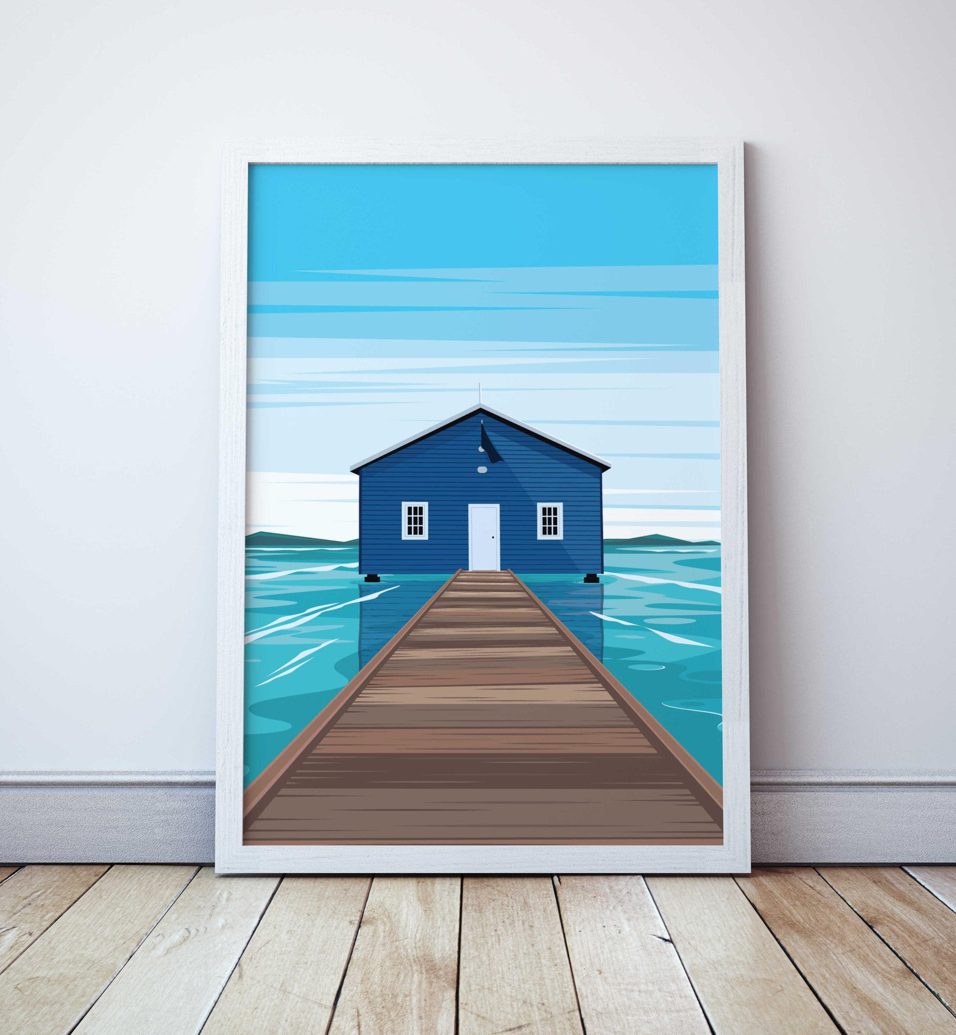 Crawley Edge Boatshed - Perth- Travel Print