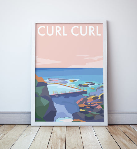 Curl Curl Travel Print