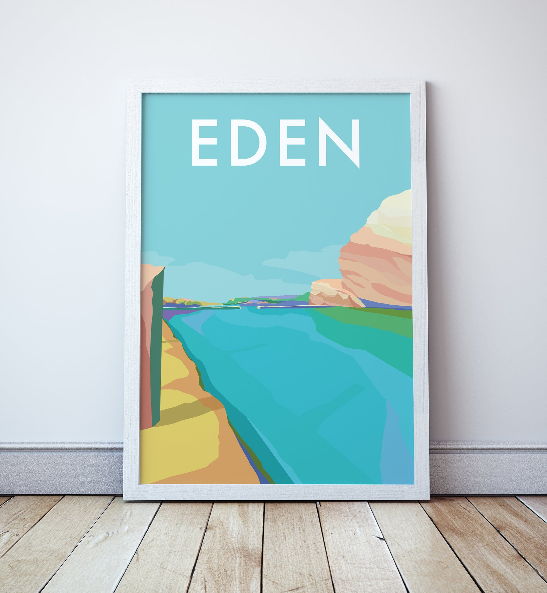 Eden Beach Travel Print