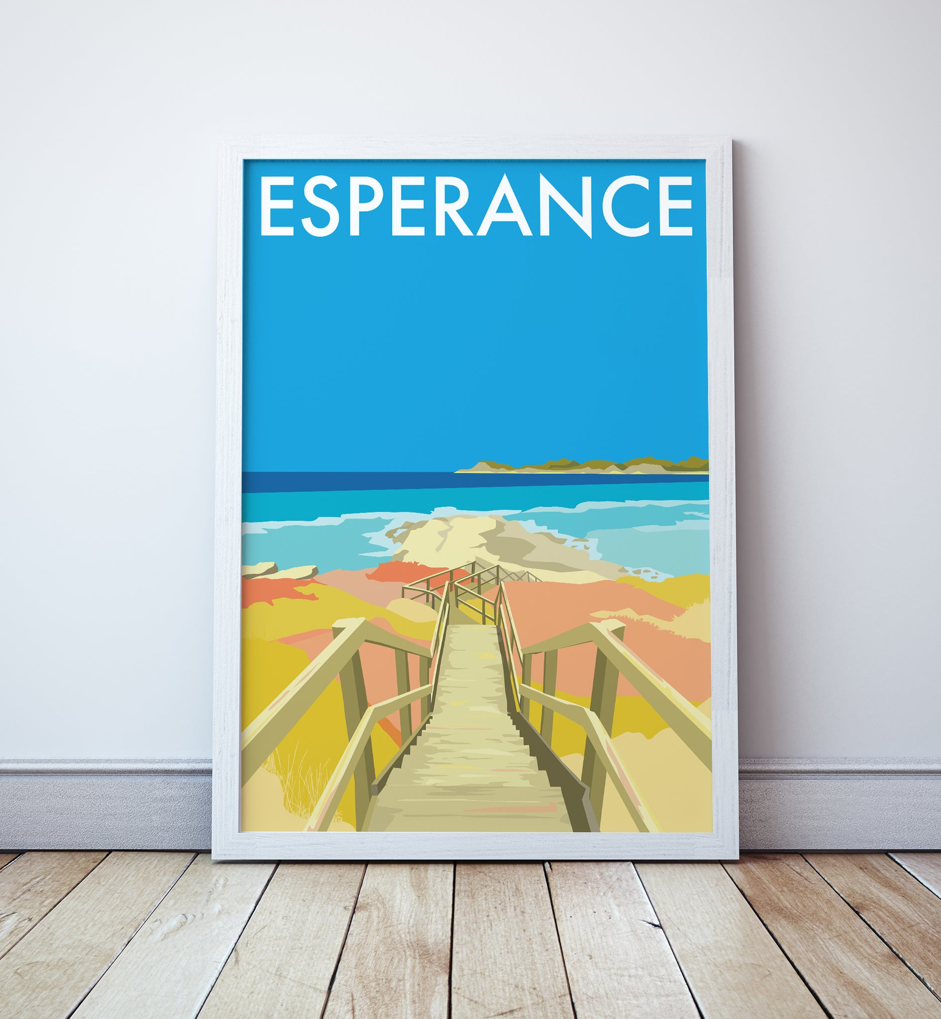 Esperance Beach Travel Print