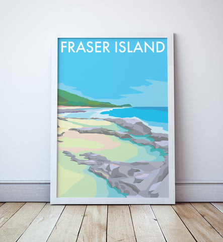 Fraser Island  Beach Travel Print