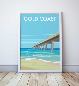 Gold Coast Main Beach Jetty  Travel Print