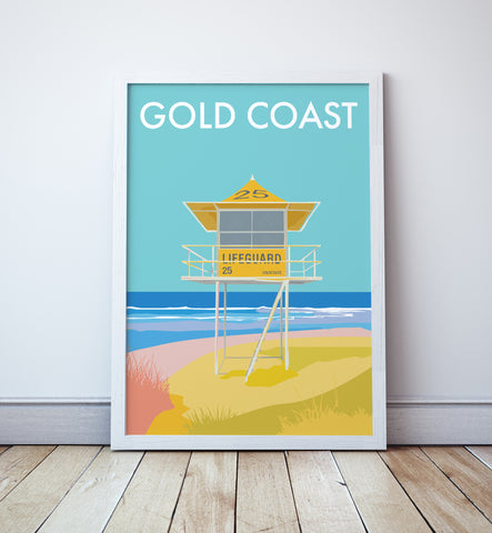 Gold Coast Lifeguard Tower Print