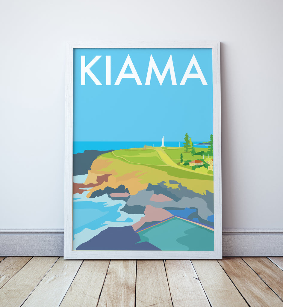 Kiama Beach Travel Print