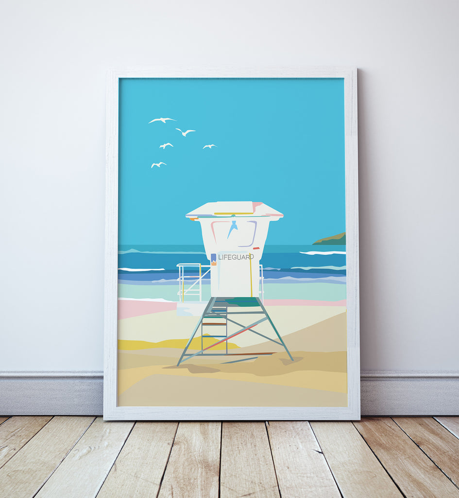 Surf Lifeguard Tower Print