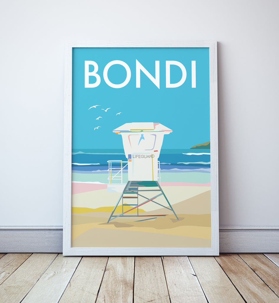 Bondi Lifeguard Tower Print