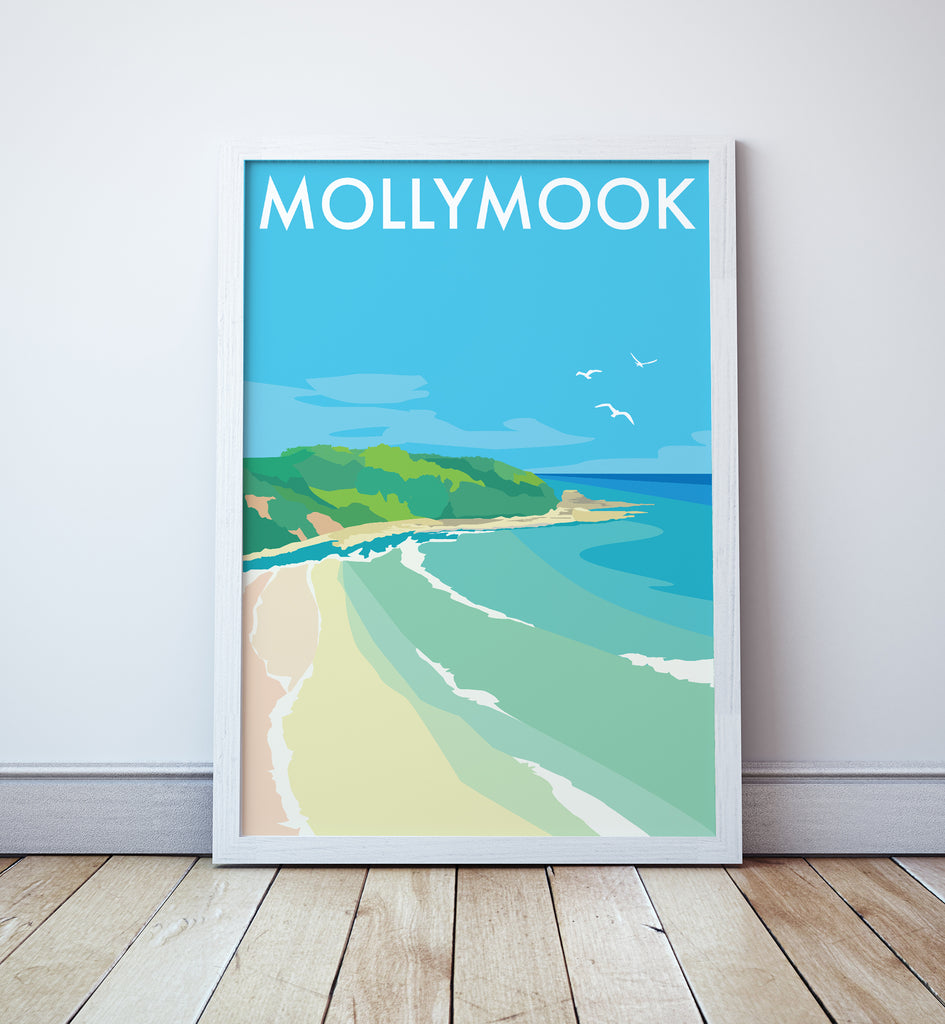 Mollymook Beach Travel Print
