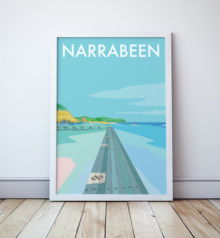 Narrabeen Beach Travel Print