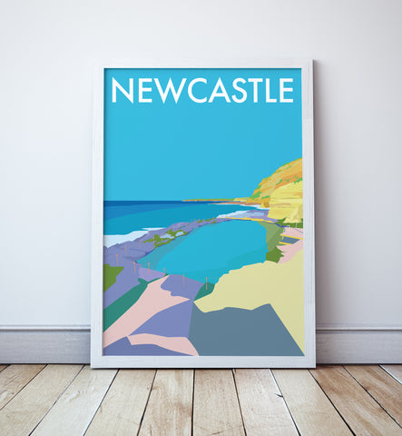 Newcastle Travel Print (Bogey Hole)