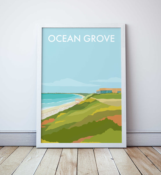 Ocean Grove Travel Print