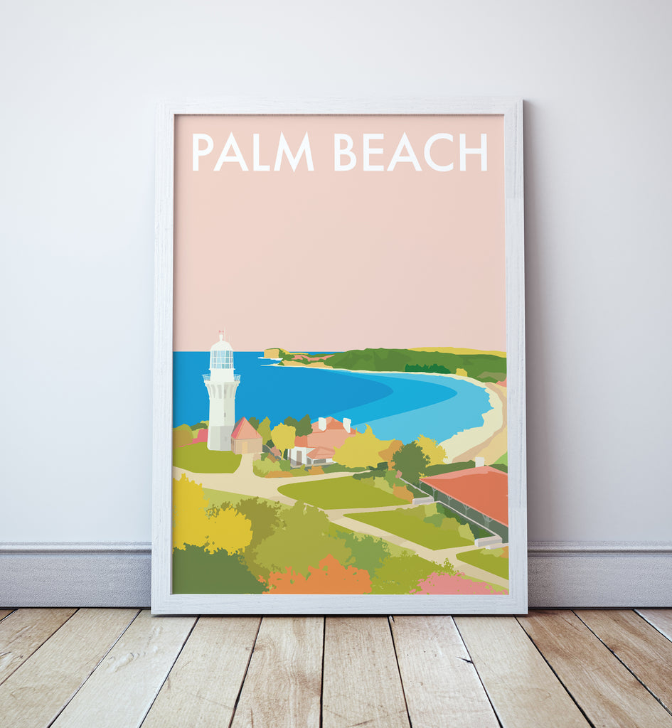 Palm Beach Travel Print