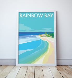 Rainbow Bay Travel Print