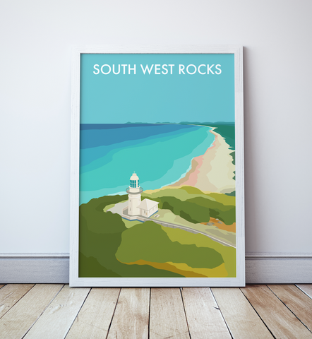 South West Rocks Smoky Cape Lighthouse Travel Print