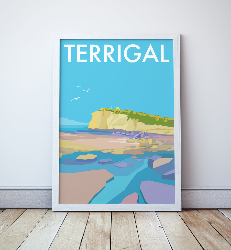 Terrigal Travel Print