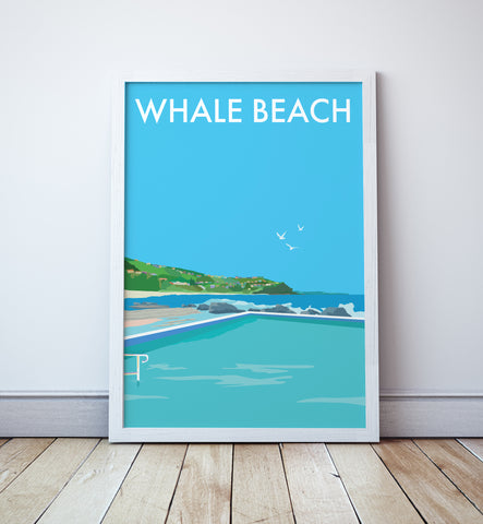 Whale Beach Travel Print