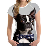 T-shirt Women Boston Terrier Bulldog Francés
