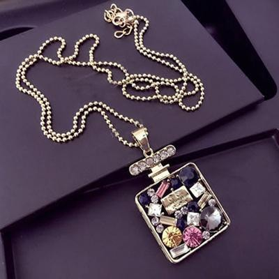 Hollow crystal CZ sweater women long necklaces