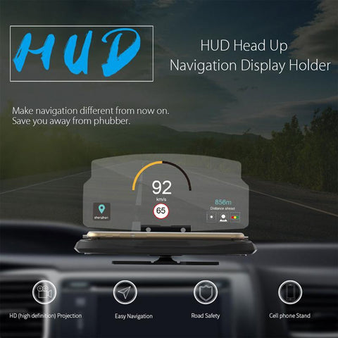 Smartphone HUD Display Holder GPS Universal Mobile