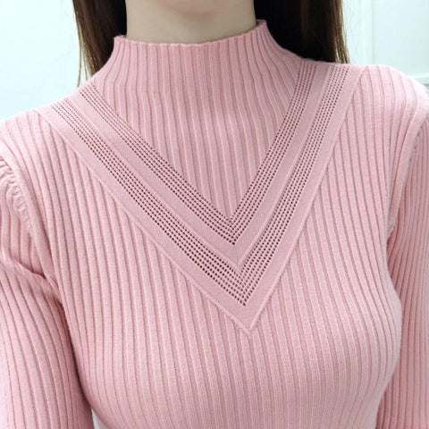 Fashion winter women turtleneck long-sleeve knitted sweater